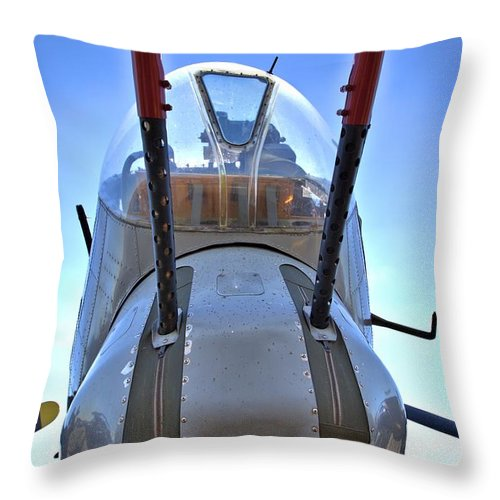 9277 Throw Pillow featuring the photograph Nose Turret by Gordon Elwell