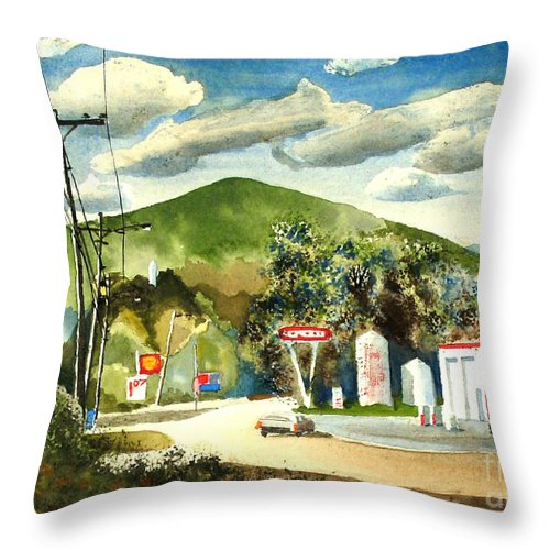 Nostalgia Arcadia Valley 1985 Throw Pillow featuring the painting Nostalgia Arcadia Valley 1985 by Kip DeVore