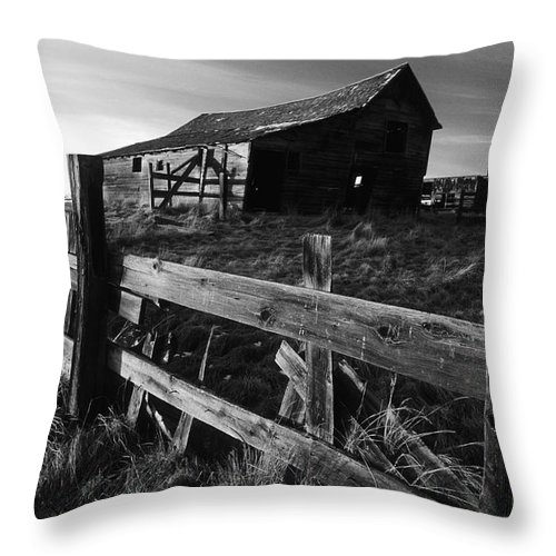 Deserted Throw Pillow featuring the photograph Not Ok Corral by Bob Christopher