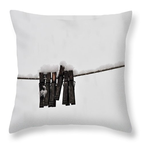 Laundry Throw Pillow featuring the photograph Not Today by Nicole Jeffery