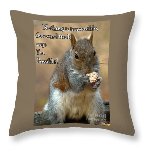 Nature Throw Pillow featuring the photograph Nothing Impossible by Sandra Clark