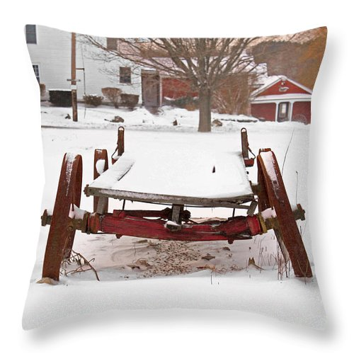 Farm Throw Pillow featuring the photograph Nothing Left To Do by K Hines