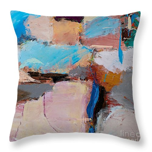 Landscape Throw Pillow featuring the painting Nothing Of Everything by Allan P Friedlander