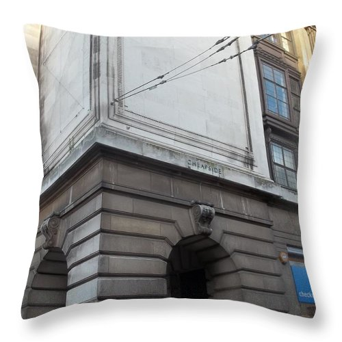 Nottingham Throw Pillow featuring the photograph Nottingham Cheapside by James Potts