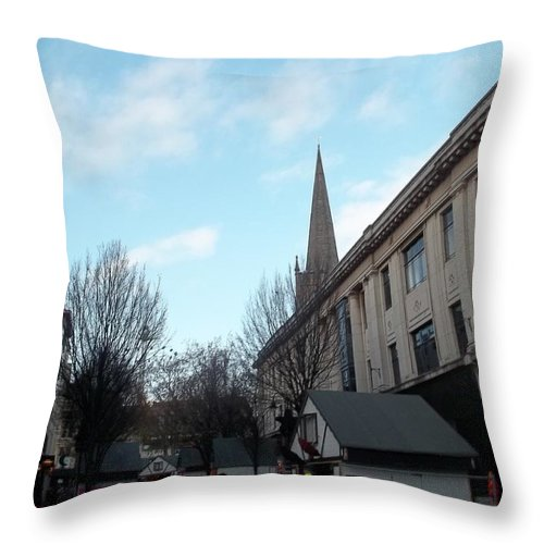 Nottingham Throw Pillow featuring the photograph Nottingham Street by James Potts