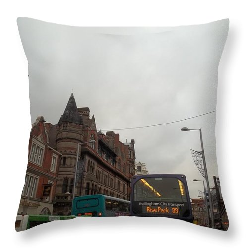 Bus Throw Pillow featuring the photograph Nottingham Transit by James Potts