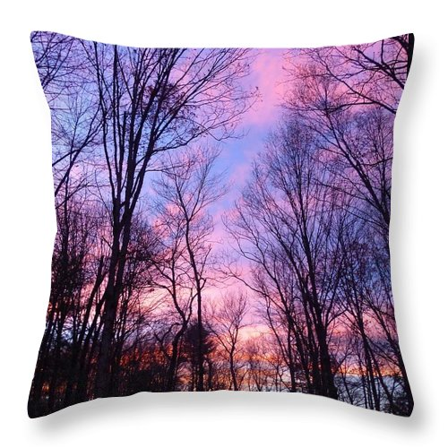 Nature Throw Pillow featuring the photograph November Sunset by Charles Ford