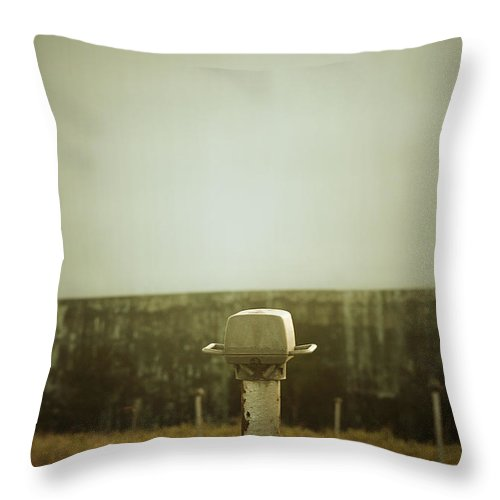 Throw Pillow featuring the photograph Now Showing by Trish Mistric