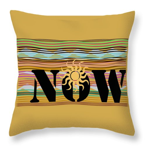 Energy Throw Pillow featuring the digital art Now Wavy by Laura Pierre-Louis