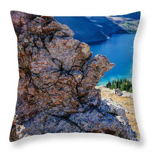 British Columbia Throw Pillow featuring the photograph Nub Ridge by Tracy Knauer