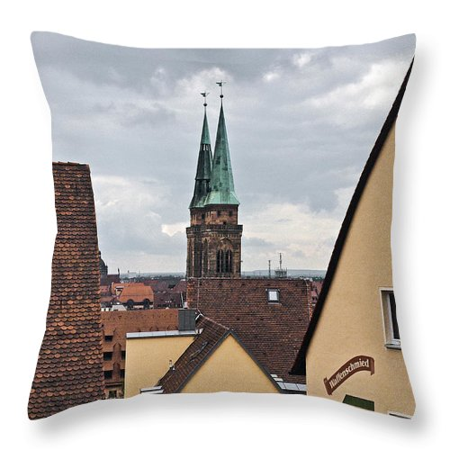 Nurnberg Throw Pillow featuring the photograph Nurnberg Germany Skyline by Howard Stapleton