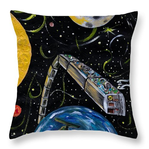 Beautiful Throw Pillow featuring the photograph Ny State Of Mind by Artist RiA