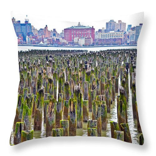 2014 Throw Pillow featuring the photograph Nyc Midtown Skyline by PatriZio M Busnel