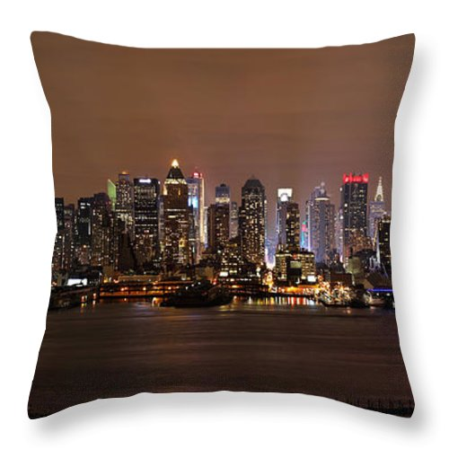 Nyc Throw Pillow featuring the photograph Nyc Skyline by Rick Kuperberg Sr