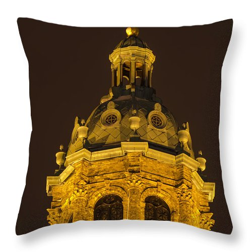 Holy Cross Canvas Prints Throw Pillow featuring the photograph O Holy Night by Jonah Anderson