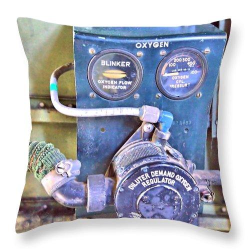9231 Throw Pillow featuring the photograph O2 Regulator by Gordon Elwell