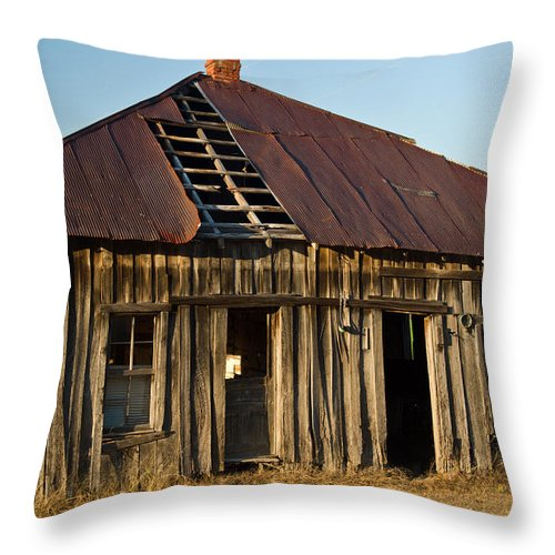 Old Throw Pillow featuring the photograph Oalold House Place Arkansas by Douglas Barnett