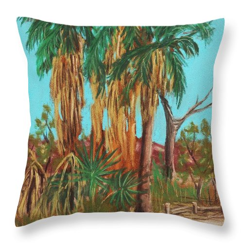 Plant Throw Pillow featuring the painting Oasis by Anastasiya Malakhova