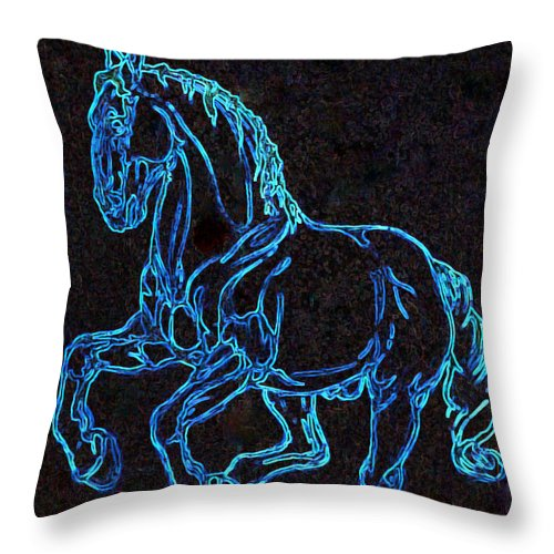Pirouette Throw Pillow featuring the painting Objet D'art by Lisa Phillips Owens