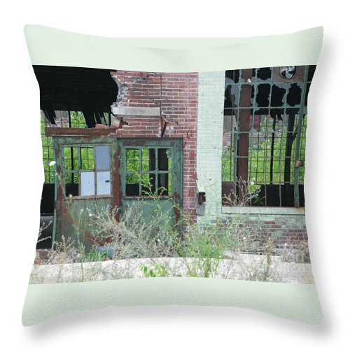 Factory Throw Pillow featuring the photograph Obsolete by Ann Horn