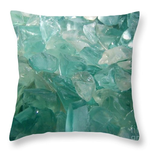 Ocean Sea Glass Teal Light Throw Pillow featuring the photograph Ocean Dream by Kristine Nora