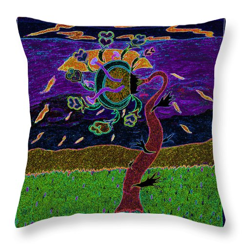 Ocean Throw Pillow featuring the photograph Ocean Side Flower At Sun Set  V3 by Kenneth James