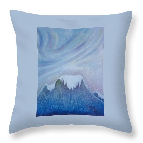 Ocean Throw Pillow featuring the painting Ocean Wave by Micah Guenther