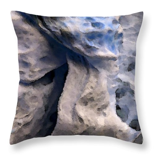 Abstract Throw Pillow featuring the photograph Oceans Edge by Gwyn Newcombe