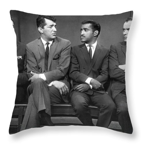 1960 Throw Pillow featuring the photograph Ocean's Eleven Rat Pack by Underwood Archives