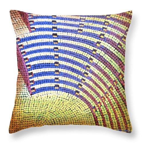 Roman Throw Pillow featuring the painting Ochre Auditorium by Mark Jones