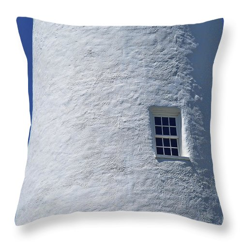 Ocracoke Light Throw Pillow featuring the photograph Ocracoke Island Light by Allen Beatty