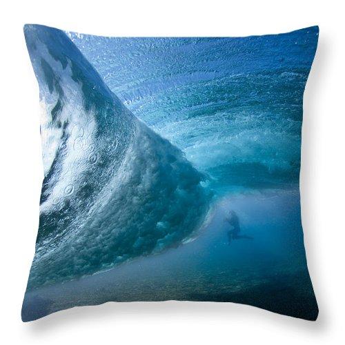 Water Throw Pillow featuring the photograph Octopuss's Garden by Sean Davey
