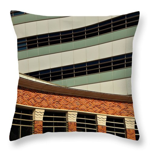 Of Lines And Curves Throw Pillow featuring the photograph Of Lines And Curves by Rachel Cohen