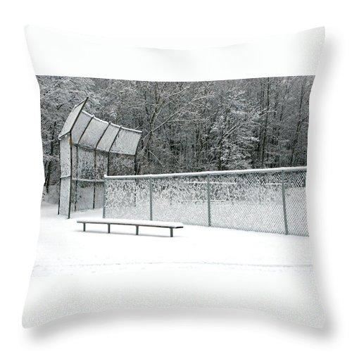 Winter Throw Pillow featuring the photograph Off Season by Ann Horn