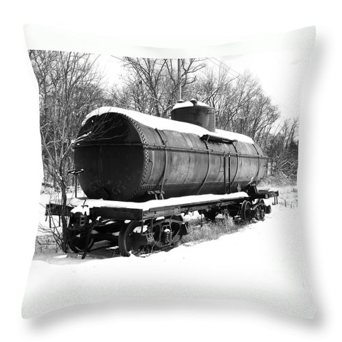Train Throw Pillow featuring the photograph Off The Beaten Track by Sara Raber