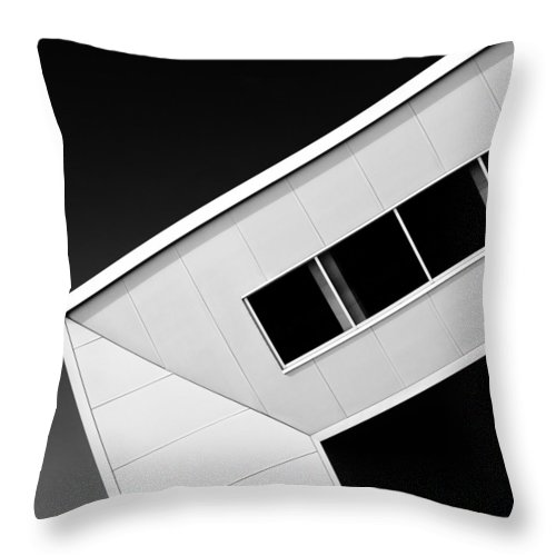 Modern Architecture Throw Pillow featuring the photograph Office Corner by Dave Bowman