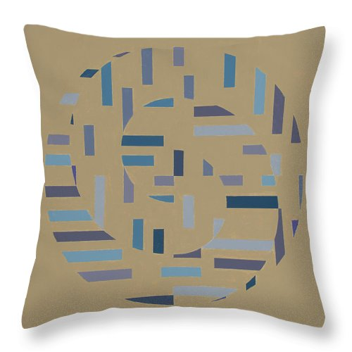 Optical Abstract Painting Throw Pillow featuring the painting Offset Movement  by Marston A Jaquis
