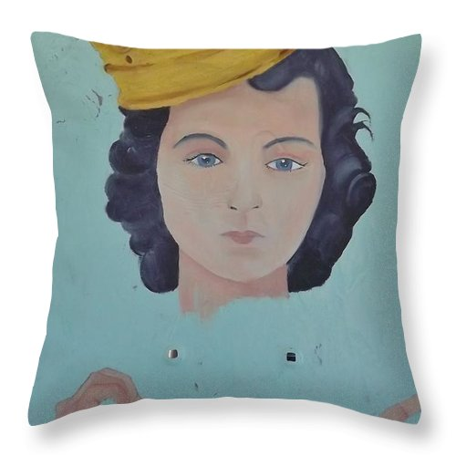 Baby Jesus Throw Pillow featuring the painting OG by Pato Aguilar