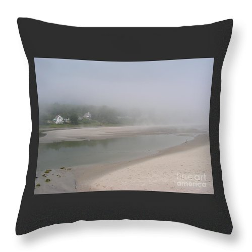 Landscape Throw Pillow featuring the photograph Ogunquit River Maine by Joy Bradley