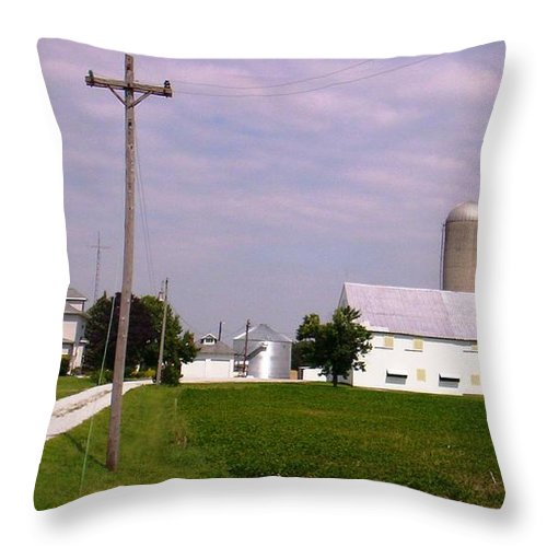 Farm Throw Pillow featuring the photograph Ohio Farm 1 by Bonnie Clark Weatherford