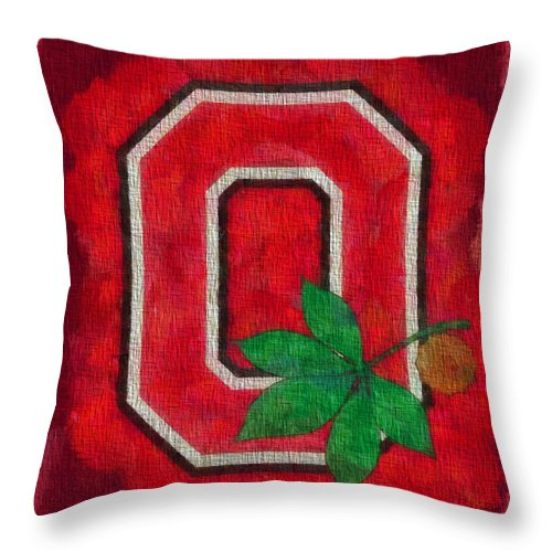 Ohio State Buckeyes On Canvas Throw Pillow For Sale By Dan