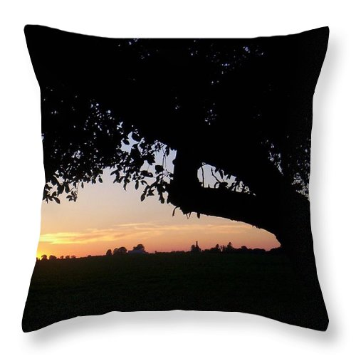 Sunrise Throw Pillow featuring the photograph Ohio Sunrise 2 by Bonnie Clark Weatherford
