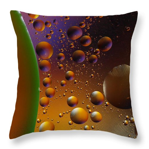 Oil Throw Pillow featuring the photograph Oil And Water 2am-113878 by Andrew McInnes