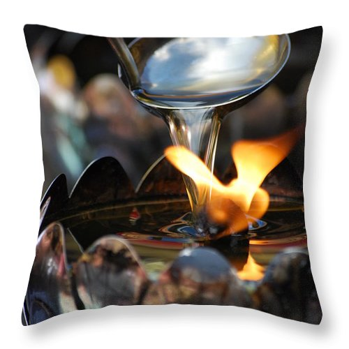 Chang Mai Throw Pillow featuring the photograph Oil Lamp by Vince McCall