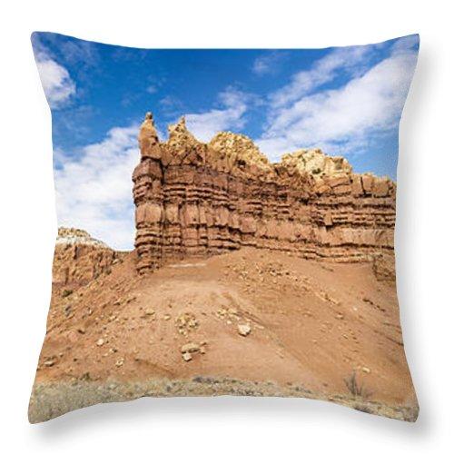 Ojitos De Los Gatos Northern New Mexico Nm Throw Pillow featuring the photograph Ojitos De Los Gatos Panorama - New Mexico by Brian Harig