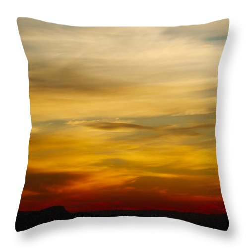 Red Throw Pillow featuring the photograph Okanagan Sunrise 1 - Square by Laura Tucker