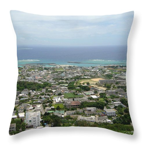 Tokyo Throw Pillow featuring the photograph Okinawa - Ie Island by Joe Marotta