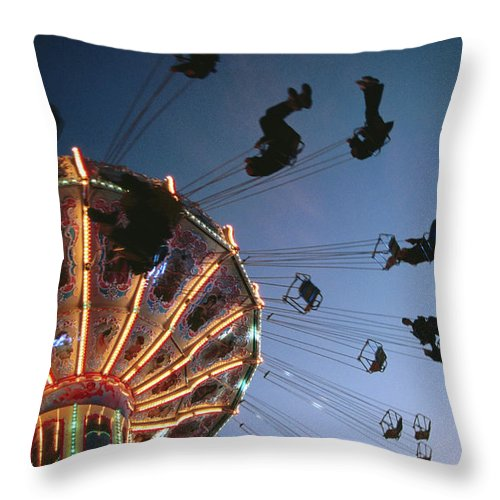 Event Throw Pillow featuring the photograph Oktoberfest Style Event In September by Thomas Winz