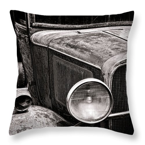 Pick Throw Pillow featuring the photograph Ol' Trucky by Olivier Le Queinec