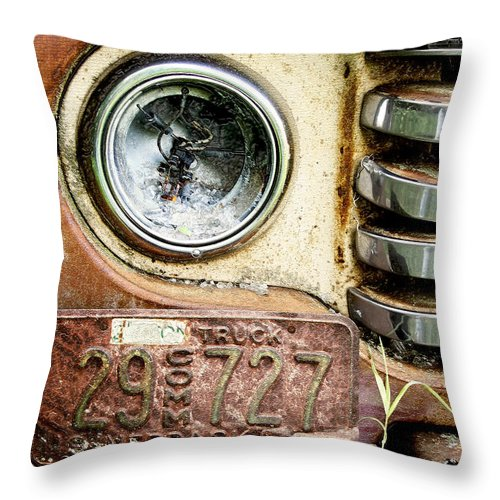 Retro Throw Pillow featuring the photograph Old 727 by John Anderson